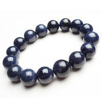 Wholesale 13mm Genuine Deep Blue Natural Stone Bracelets Women Mens Powerful Round Bead Stretch Bracelet