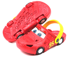 2016 cartoon car 3D pattern baby Clog garden shoe for children sandals slippers boys and girls