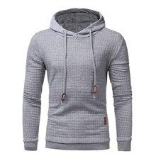 New tops 2017 Fashion plaid dobby Hoodies Mens fashion Brand Hoodie Sweatshirt Men Slim Hoody sweatshirts clothes size S-XXXL