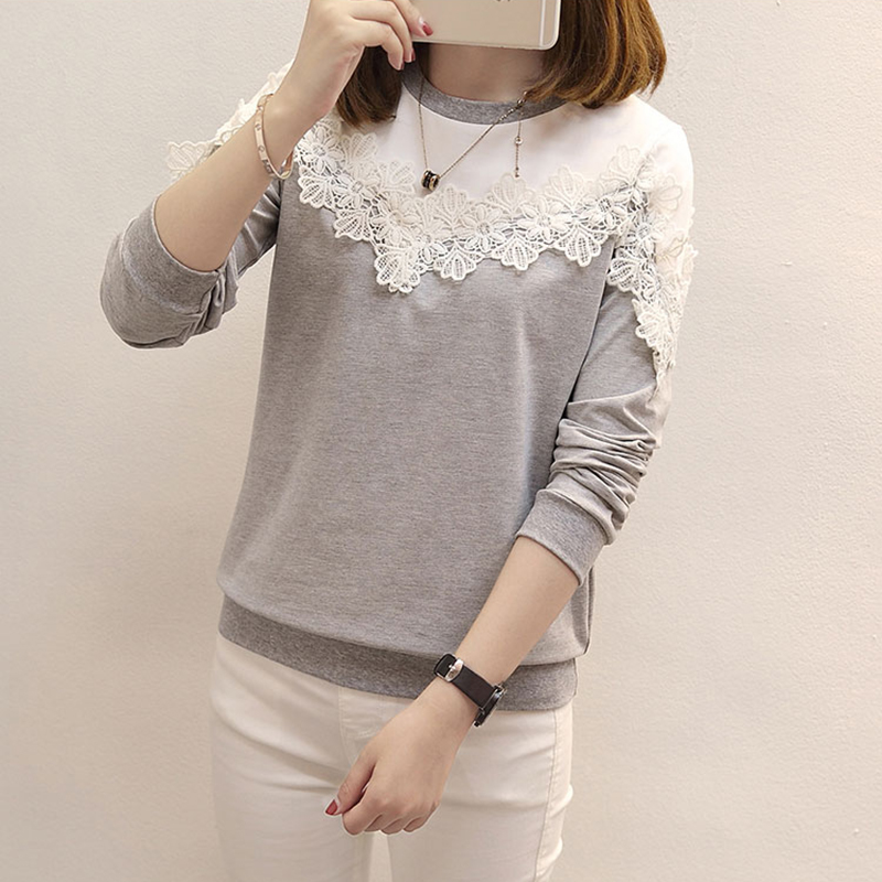 White lace blouse womens tops fashion 2018 floral long for White floral shirt womens
