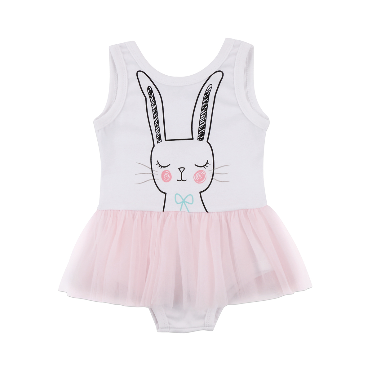 Princess kid baby girls   rompers   Toddler Baby Girl cartoon Rabbit lace backless   Romper   Party Wedding Prom Tutu jumpsuit 1-6Years