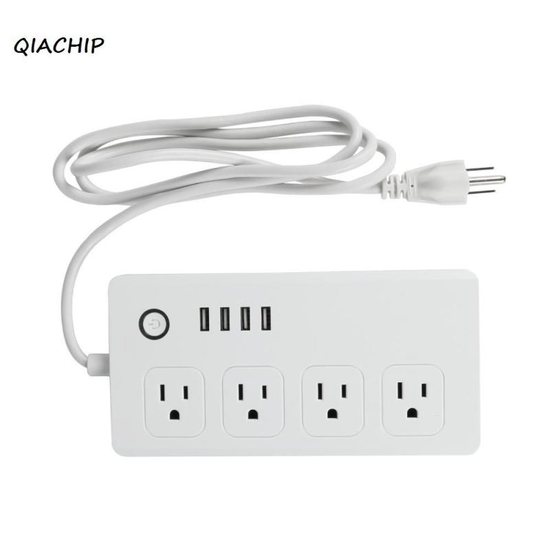 US Standard AC 110-240V Wireless Smart Socket Switch 4 USB Ports Wifi Fast Charge Outlet Remote Control Switch Power Strip rainbow rainbow down to earth deluxe edition 2 cd