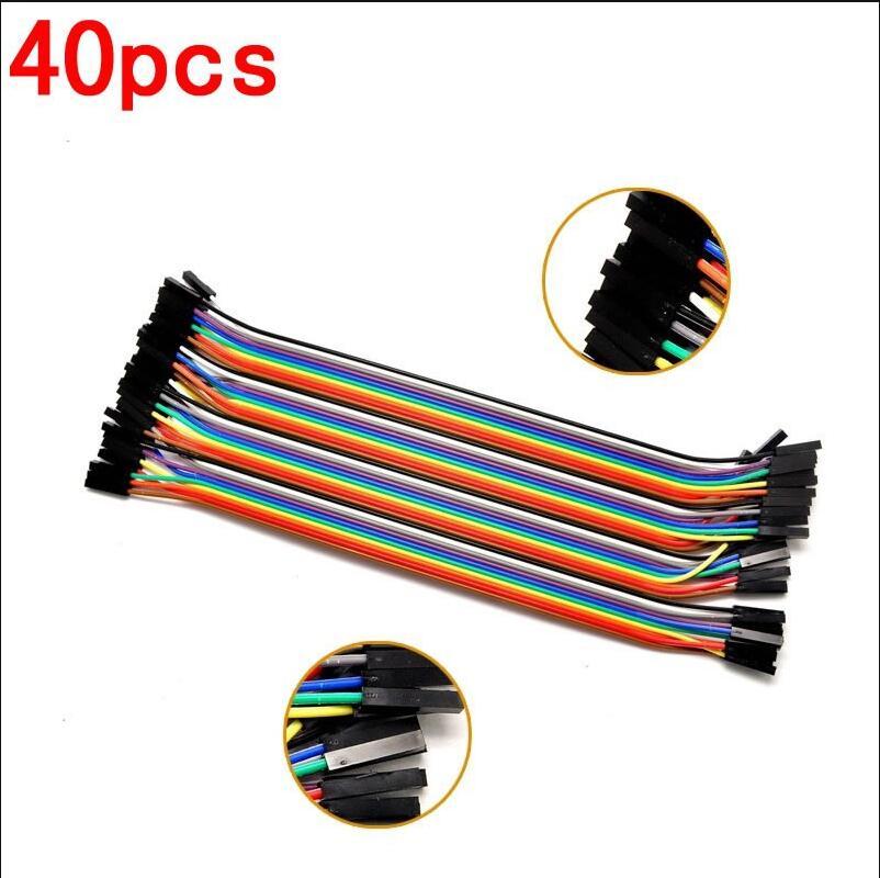 ⃝Envío libre Dupont línea 40 unids 20 cm hembra y hembra cable ...