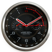 racing car dashboard clock large round modern metal wall clock with thermometer hygrometer auto