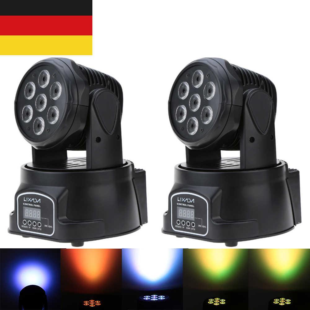 Moving Head Disco Licht DJ Zeigen DMX 512 RGBW LED Bühne Licht Strahl Party Lichter Led Dj Weihnachten Weihnachten Sound aktive LED Par Licht