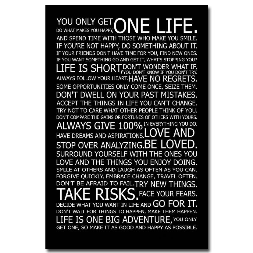 motivational office pictures. love your life motivational inspirational quotes art silk fabric poster print 24x36 inches home office pictures