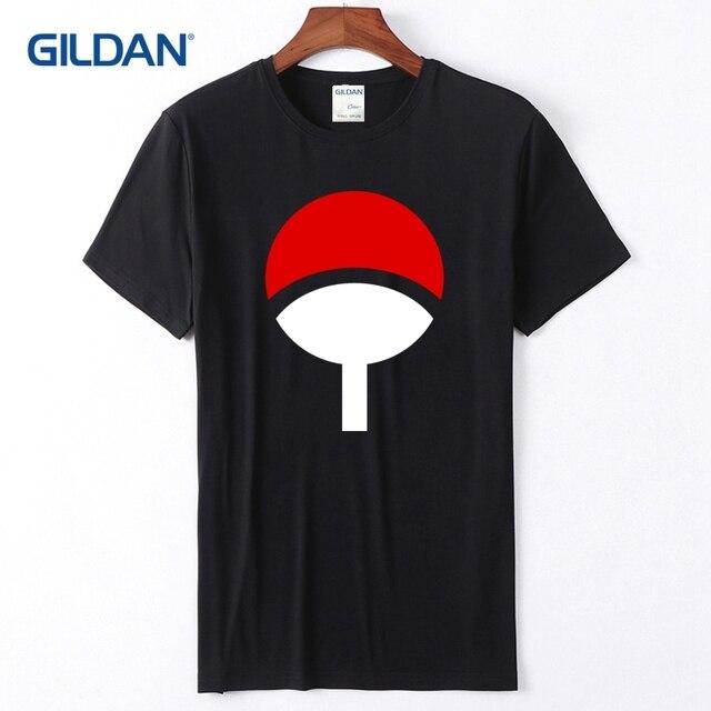 Men T Shirts 2018 Uchiha Clan Japanese Symbol Mens Tee Shirt No