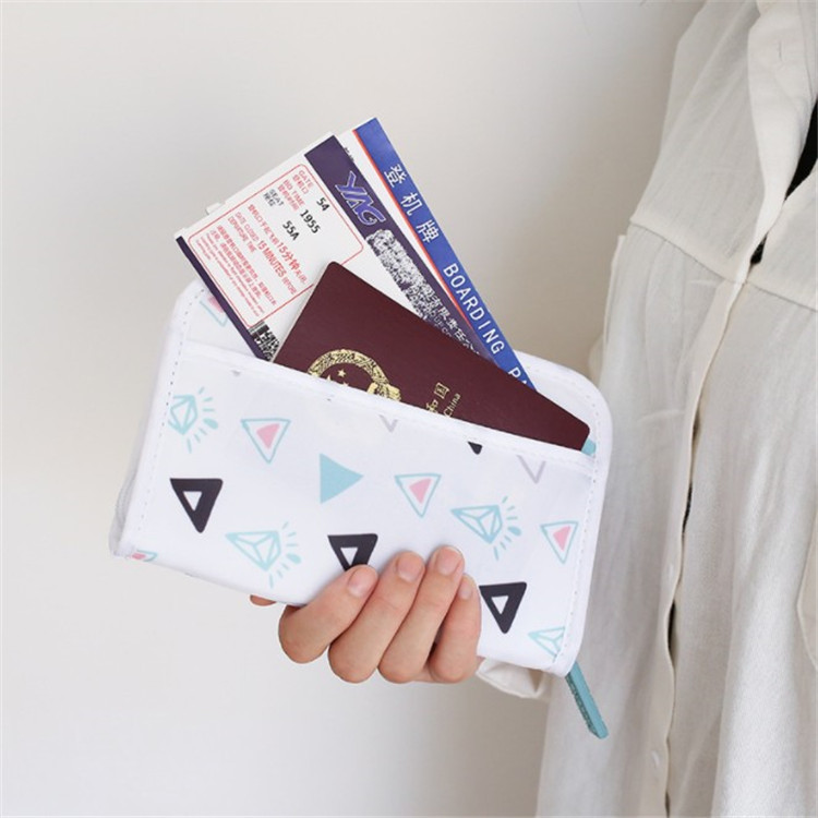 Coloffice 1pc Travel Multifunction Card Holder Package Id Storage Creative Korean Cute Girl Passport Cover Wallet Supplies