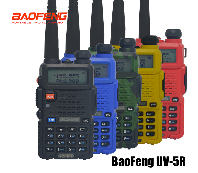 Hot pofung uv 5r Portable Radios Baofeng UV5R two way radio Walkie-talkie 5W vhf uhf dual band Communication Equipment