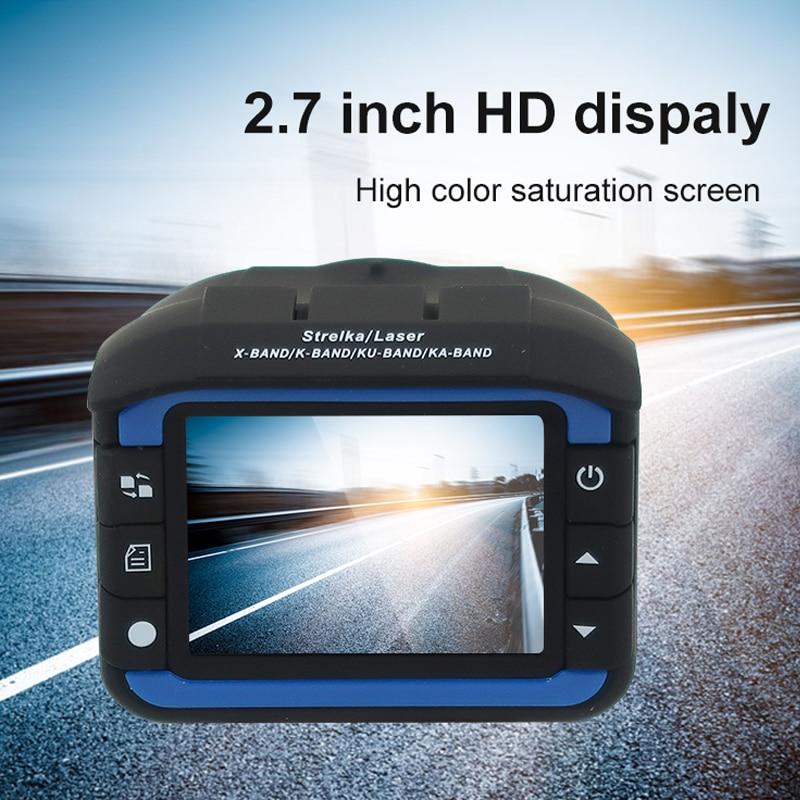Yashianda Car DVR Camera 2 In 1 Radar Detector Camera Laser Speed Cam Anti Radar Dash Cam Support English Russian Voice