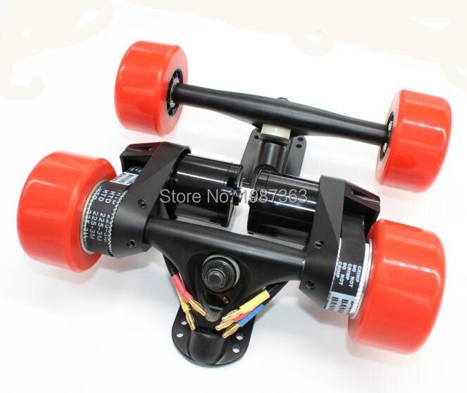 Kit de Conversion de planche à roulettes Longboard électrique camion arrière avec deux moteurs + entraînement par courroie avant double moteur 5065