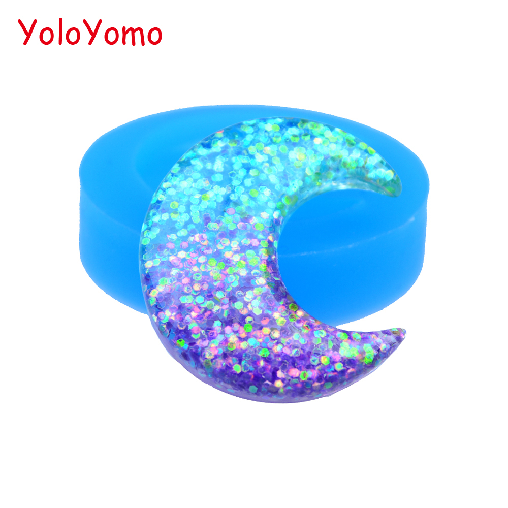 Resin Polymer Clay Fondant Chocolate Cake Decoration Mold Suitable For Men And Women Of All Ages In All Seasons Well-Educated P535yl 39.9mm Luna Silicone Mold Crescent Moon Mold Jewellery Diy