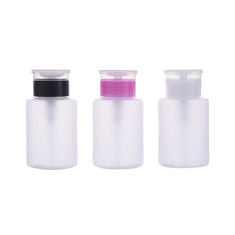 70ml Nail Gel Polish Remover Cleaner Pump Dispenser Empty Bottle Liquid Container Storage Small