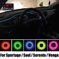 9 Meter EL Wire For KIA Sportage / Soul / Sorento / Venga / Car Interior Romantic Atmosphere Lamp / Decoration Cold Light Lines