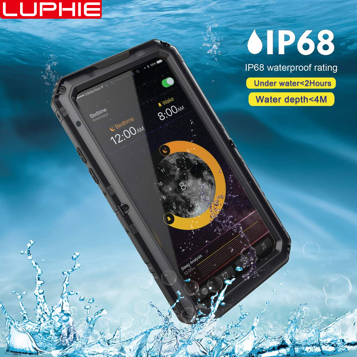 Shockproof Dustproof Waterproof Phone Cases for iPhone XR X 6 6S 7 8 Plus XS Max Luxury Armor Metal Aluminum Heavy Duty CoverShockproof Dustproof Waterproof Phone Cases for iPhone XR X 6 6S 7 8 Plus XS Max Luxury Armor Metal Aluminum Heavy Duty Cover