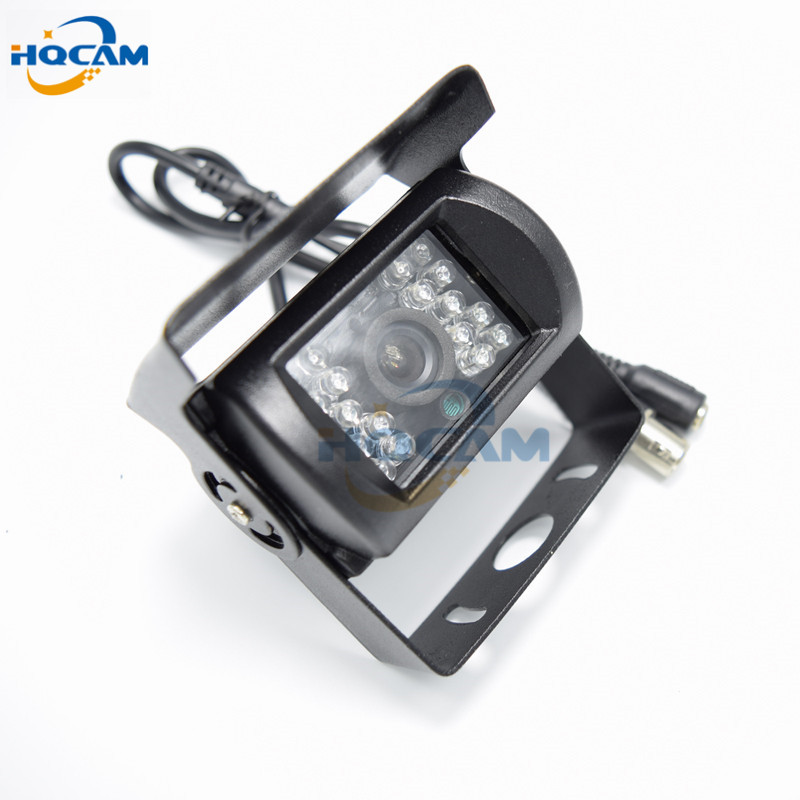 HQCAM CCD 600TVL IR Nightvision Waterproof Car parking Rear View Camera Cmos Bus Truck Camera For Bus mini camera 2090+638\639 ccd car reverse camera for ssangyong rexton kyron backup rear review reversing parking kit waterproof nightvision free shipping