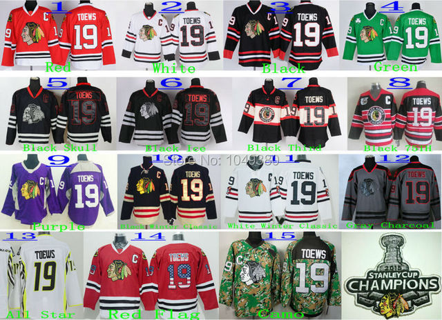 4a5ab4e5f7e Wholesale Cheap Chicago Blackhawks Ice Hockey Jersey #19 Jonathan Toews  Jersey Black Red White 2015 Stanley Cup Champions Patch