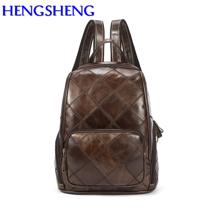 Hengsheng genuine leather women backpacks with cow layer leather ladies backpacks for fashion women genuine leather backpacks genuine leather