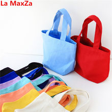 La MaxZa Big Sale Red Canvas Cheap Women Bags Small Totes Top-Handle Beach Bag Summer Female Bags Storage Bag Women's Handbags(China)