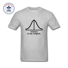 2017 Natural Cotton Valentine's Science is my religion atheist geek Funny Cotton T Shirt for men