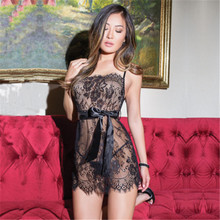 44052cb8156 Meihuida Sexy Babydoll Strappy Backless Sleepwear Lace Sheer Bowknot  Lingerie