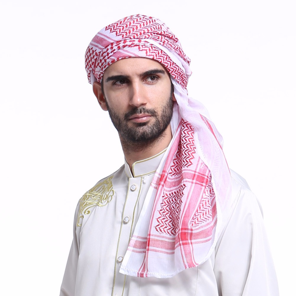 Fashion Muslim Hijab Shemagh Arab Scarves Men Arabic ...