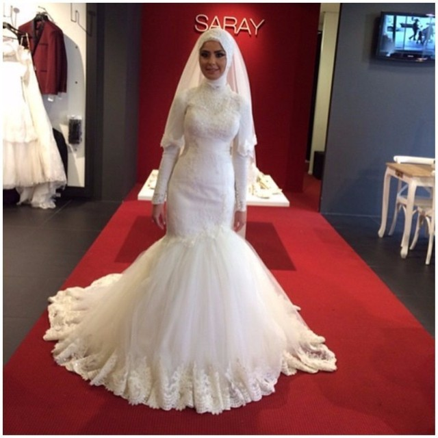 Robe de mariee hijab