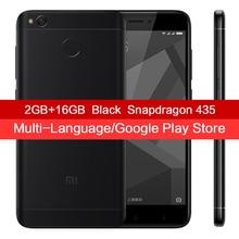 "Original Xiaomi Redmi 4X Mobile Phone 2GB RAM 16GB ROM Snapdragon 435 Octa Core 5.0"" HD 4100mAh Fingerprint 13MP Camera MIUI 8.2(China)"