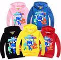 2017 Niños Sudadera Con Capucha de Manga Larga T-Shirt Niños Bebés Máscaras Niñas Cabritos de la Camiseta de Algodón Estudiante Tops Deportes Camisetas Casuales Suéter