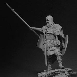 Image 5 - 1/24, Viking Spearman Resin kit Figure GK Historical and humanistic themes Ancient war Uncoated No colour