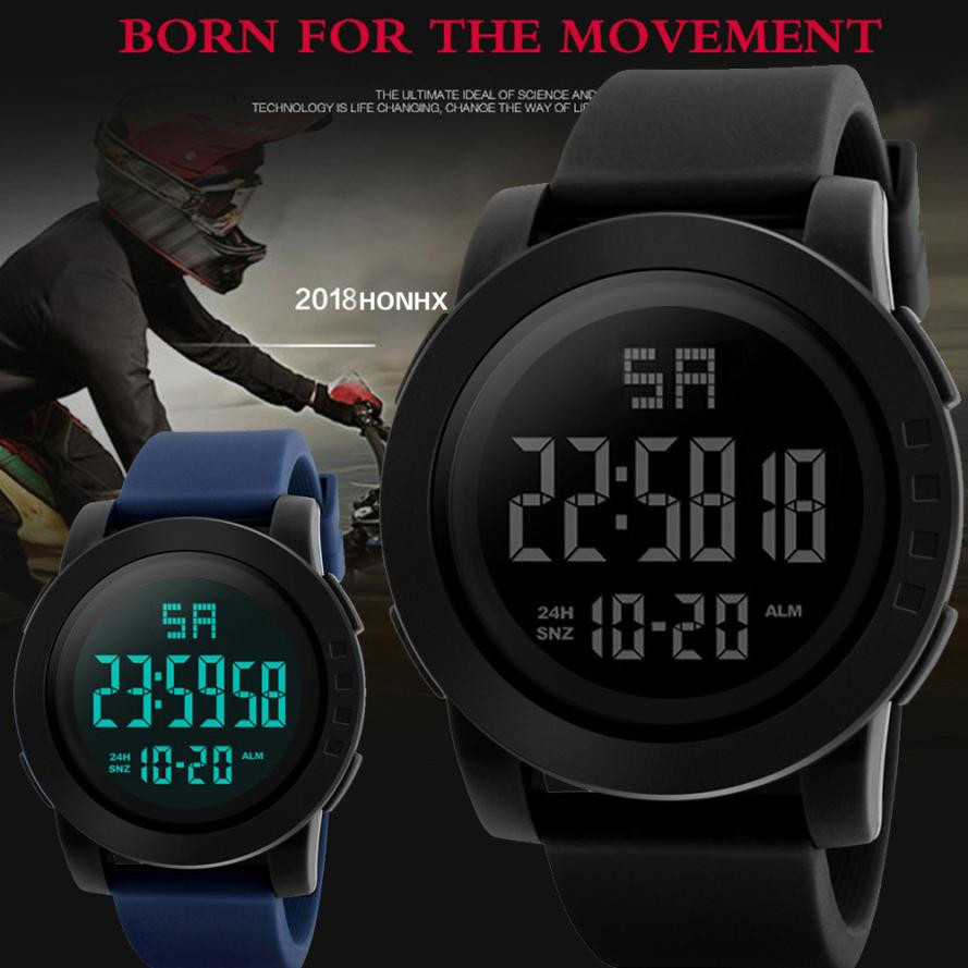 Watches Man Clock Digital Watches Black Mens Men Analog Digital Military Army Sport LED Waterproof Wrist Watch erkek kol saati