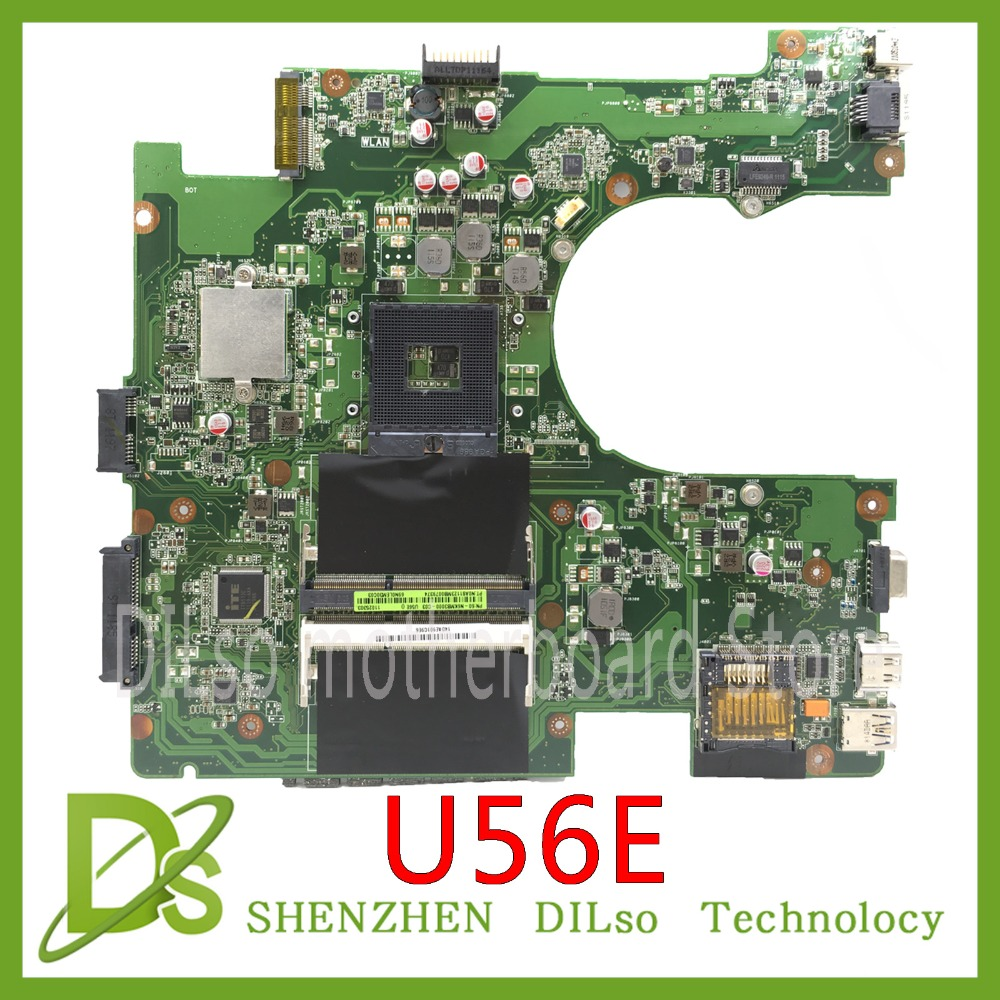 KEFU U56E Mainboard For ASUS U56E U56 DDR3 HM65 Laptop Motherboard  Test Work 100% Original