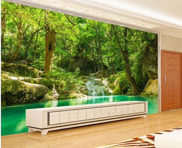 new large wallpaper wonderland scenery green mural wallpaper mural