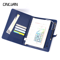 8GB Notebook With 4000mah 6000 MAh Power Bank Notebooks PU Leather Notebook Business Gift Office Supply