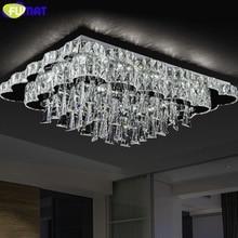 Neue Moderne Led Kronleuchter Rechteck K9 Kristall Leuchte Wohnzimmer Leuchten Luxus Dimmen Decor Innenbeleuchtung
