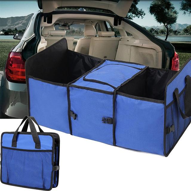 2016 Nova Caixa de Armazenamento De Isolamento 2-em-1 Carregador Do Carro Organizador de Compras Pesados Dobrável Dobrável De Armazenamento Azul/preto/vermelho