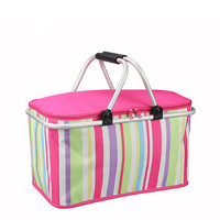 Ice Pack Sell Like Hot Cakes Folding Aluminum Picnic Basket Take Out Incubator Lunch Preservation Box