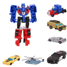 Transformation Robot Cars Toys Action Figures Classic For Kids Plastic Education Christmas Gifts
