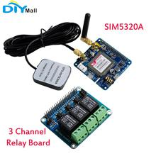 Raspberry PI RPI SIM5320A 3G GSM GPRS GPS Expansion Board WCDMA + HSDPA with 3 Channel Relay Board DIYmall modules raspberry pi accessory pack b with rpi expansion board pioneer600 16gbmicro sd card