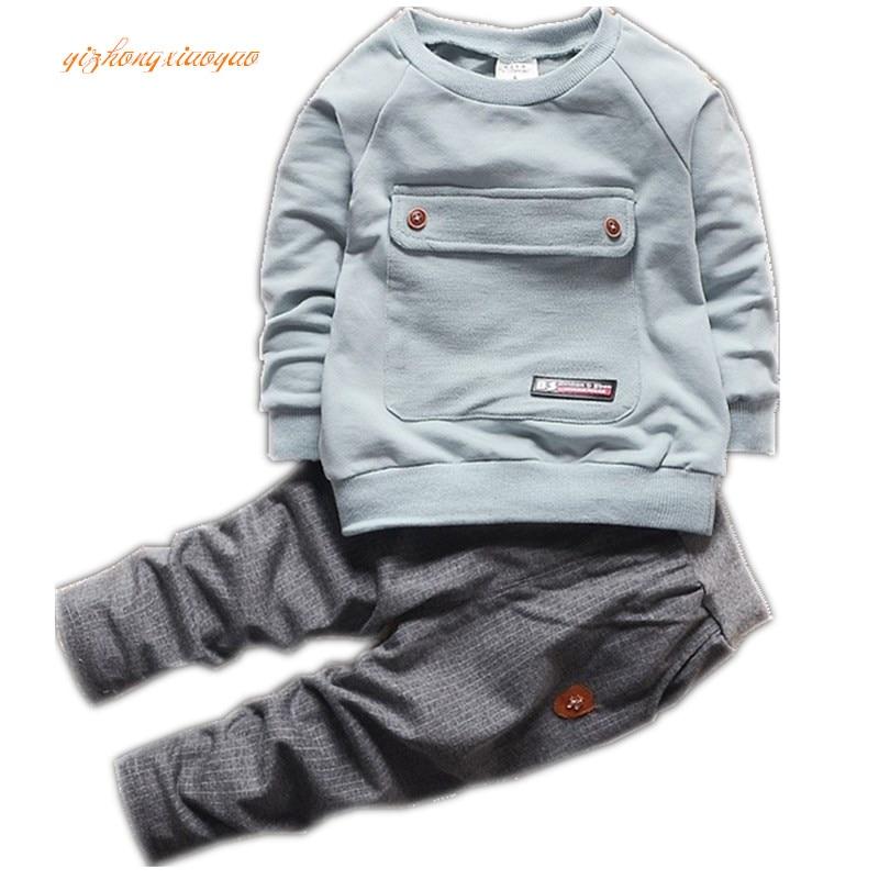 2016 new summer boys clothing set set of children`s sports jacket sports wear clothes T-shirt + boy pants