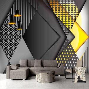 Пользовательские обои 3D Скандинавское геометрическое настенное изображение с узором гостиная спальня креативный самоклеящийся водонепро...