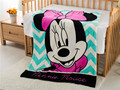 Cartoon Minnie Mouse Girl Cute Coral Fleece Home Travel Blanket Birthday Gift 95cm*120cm