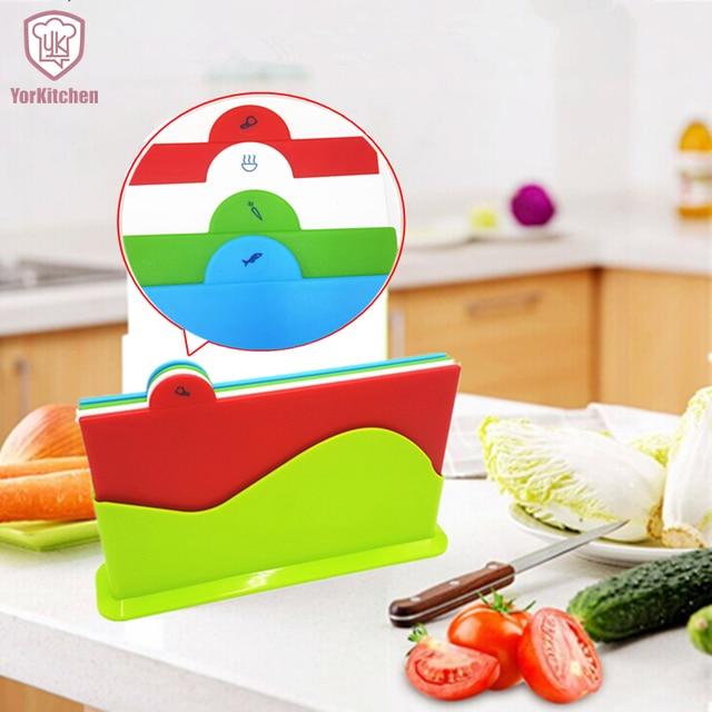 4PCS Set Plastic BPA Free FDA approved colorful Kitchen Cutting ...