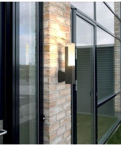 design moderno led porch luz 5w 10w a prova d agua ao ar livre lampada