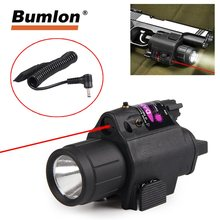 Tactical Pistol Red Laser & Flashlight Sight Scope Combo Weaver Picatinny Rail Rifle 200 Lumen HT8-0001R(China)