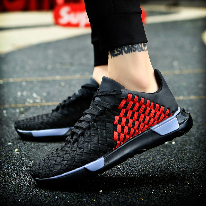 Hombre Krasovki Blackred Calzado Adultos Zapatos Comodas Masculino