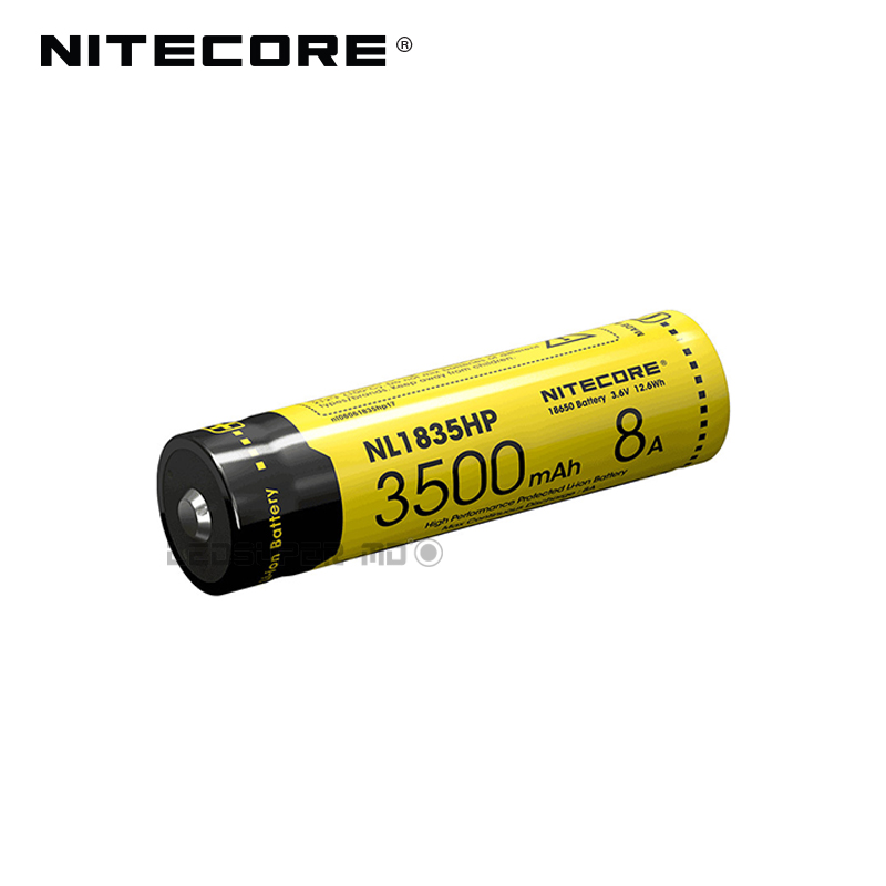 Original Nitecore NL1835HP 3500mAh 8A High Performance Protected 18650 Li-ion Battery