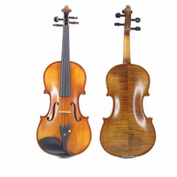Professional Handmade High grade Spruce Solid Wood Vintage Violin Case Bow Rosin Set for Professional Players Bow TL002 2