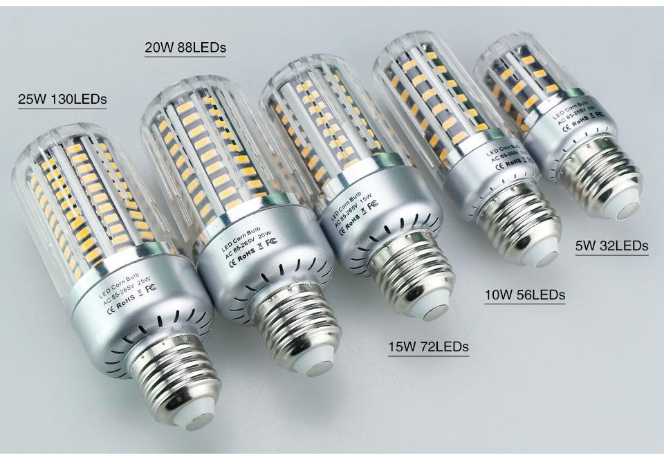 4Pack LED Bulb Corn Light 85-265V E27 E14 E12 B22 GU10 LED Lamp SMD5736 Lights