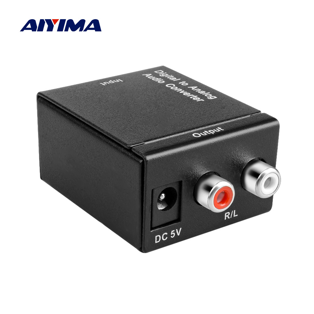 AIYIMA Digital To Analog Audio Converter Portable <font><b>DAC</b></font> Amplifier Decoder Converter Optical Fiber Coaxial To Analog SPDIF Adapter image